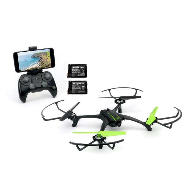 SKY-01848 + 2 x SKY-01846 Sky Viper Scout Live Streaming Video Drone & 2 Batteries