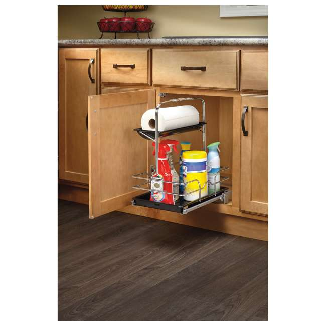 544-10C-1 Rev-A-Shelf 544-10C-1 Undersink Base Cabinet Slide Out Cleaning Caddy. Silver 2