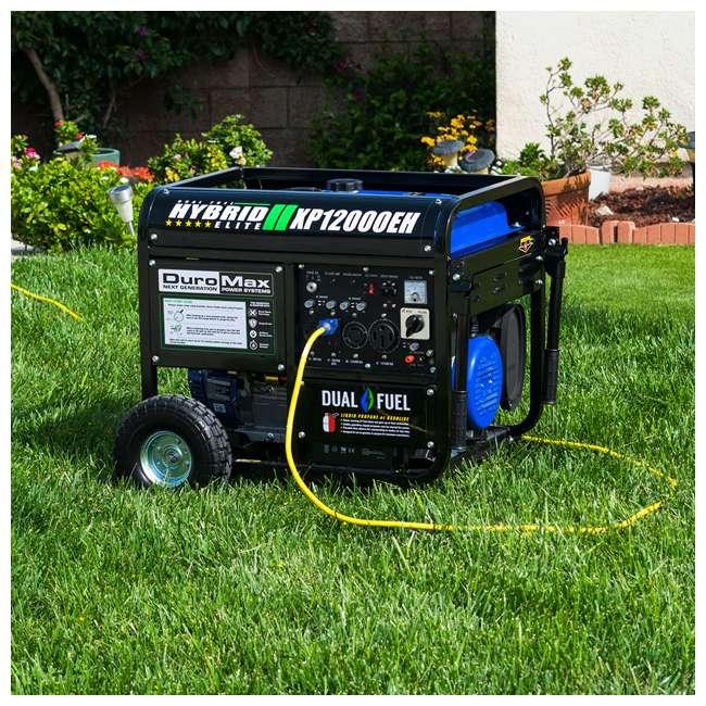 XP12000EH + XPLGC DuroMax 12000 Watt Portable Hybrid Generator & Generator Cover, Black 10
