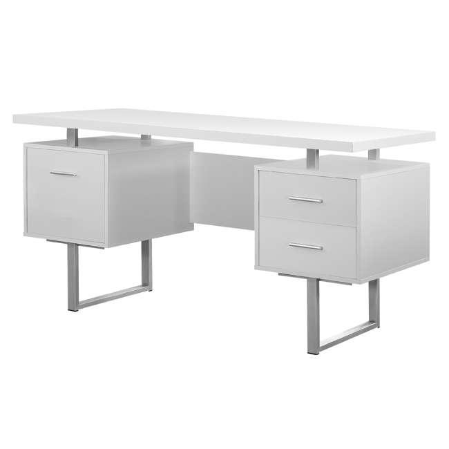 VM-7081 + VM-7048 Monarch 60 Inch Office Computer Desk w/ Filing Drawer & 3 Drawer Filing Cabinet 4