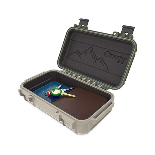 77-54441 OtterBox 3250 Series 0.9 Liter Waterproof Storage Drybox, Ridgeline Green & Tan 1