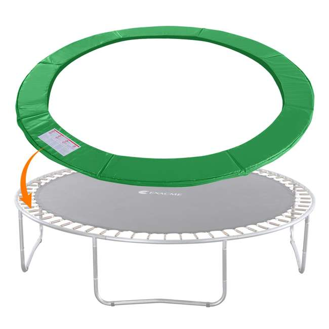 6180-CP14G Exacme 14-Foot Round Trampoline Frame Spring Cover Safety Pad Replacement, Green 1
