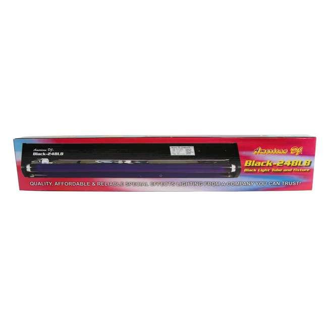VF1300 + BLACK-24BLB American DJ 1300 Watt 2.3 L Tank Fog Machine w/ Remote & 24 Inch 20W Black Light 3