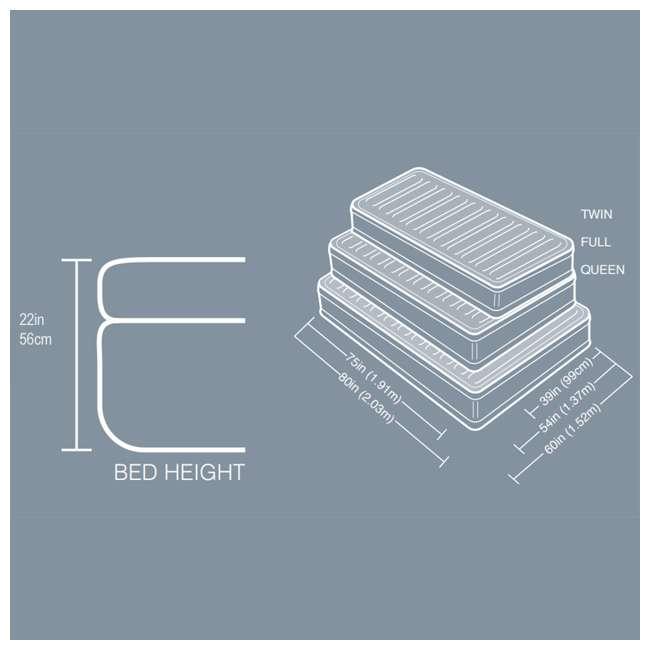 64417E Intex Queen Comfort Plush High Rise Dura-Beam Air Bed Mattress w/ Built-In Pump 64417E 6