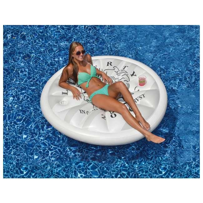 Swimline Giant Inflatable Silver Dollar Island Float
