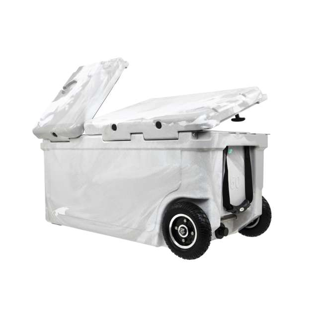 HC75-17W WYLD 75 Quart Pioneer Dual Compartment Insulated Cooler w/ Wheels, White/Grey 4