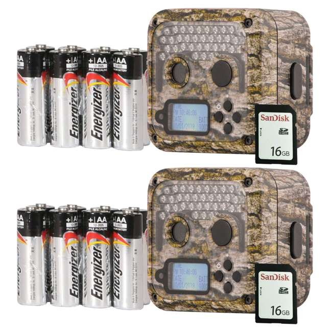 WGICM0653 Wildgame Innovations Shadow Infrared Game Trail Camera (2 Pack) with SD Cards