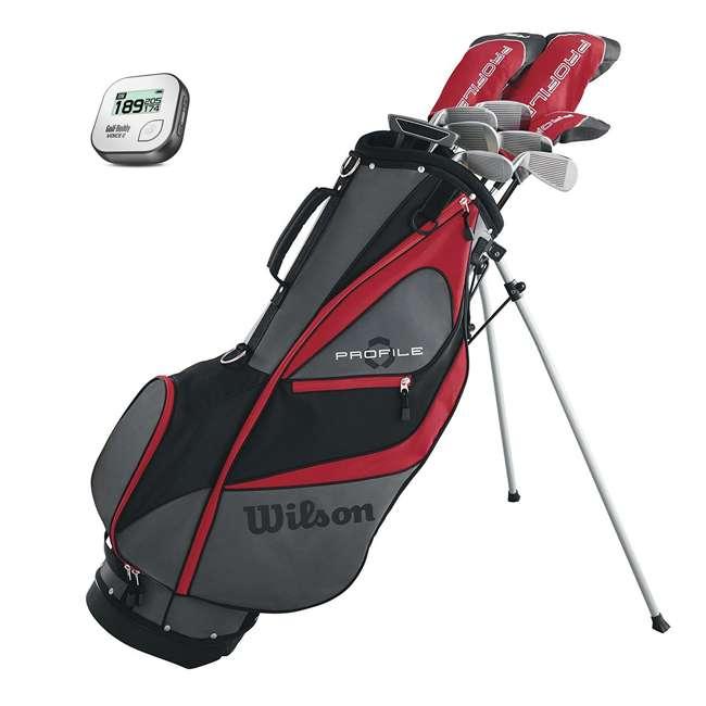 WGGC5800L + GB7-VOICE2-GREY Wilson Profile XD Men's Left Handed Golf Club Package Set & Rangefinder