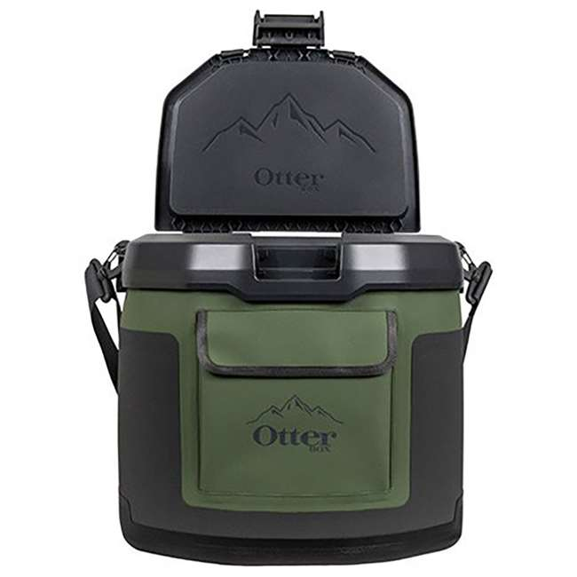 77-60673 OtterBox Trooper IP66 Leakproof Seal Portable 12 Quart Insulated Cooler, Green 6