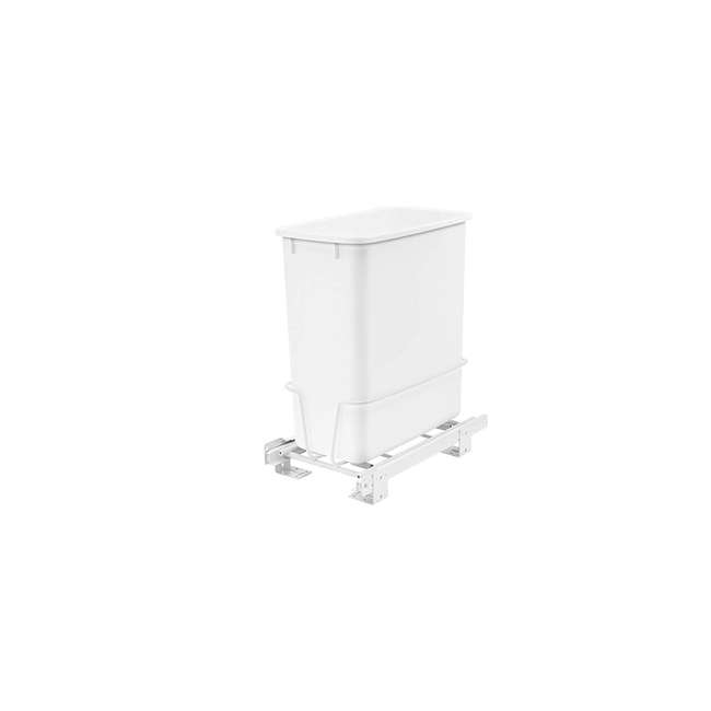 RV-814PB-U-A Rev A Shelf 20 Quart Undermount Pullout Waste Container, White(Open Box)(2 Pack) 1