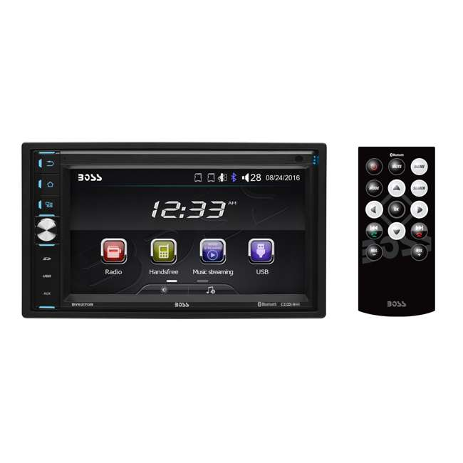 BV9370B Boss Double-DIN 6.5-Inch Touchscreen Bluetooth Multimedia Player with Remote