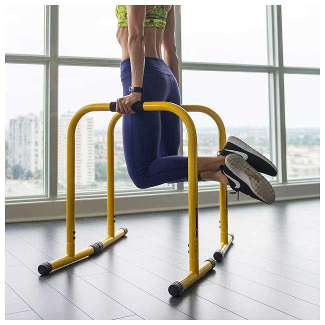 LFI-EQ-YELLOW Lebert Fitness Total Bodyweight Strengthener Stainless Steel Equalizer, Yellow 1