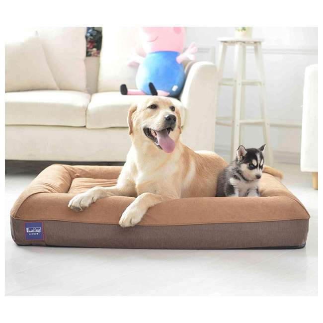 M1222 Laifug Large Waterproof Memory Foam Dog Bed Mattress, Chocolate 4