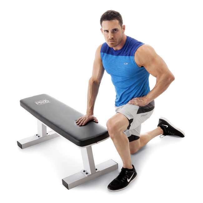 SB-5405-U-B Marcy Home Gym Exercise Fitness Workout Flat Board Weight Lifting Bench (Used)