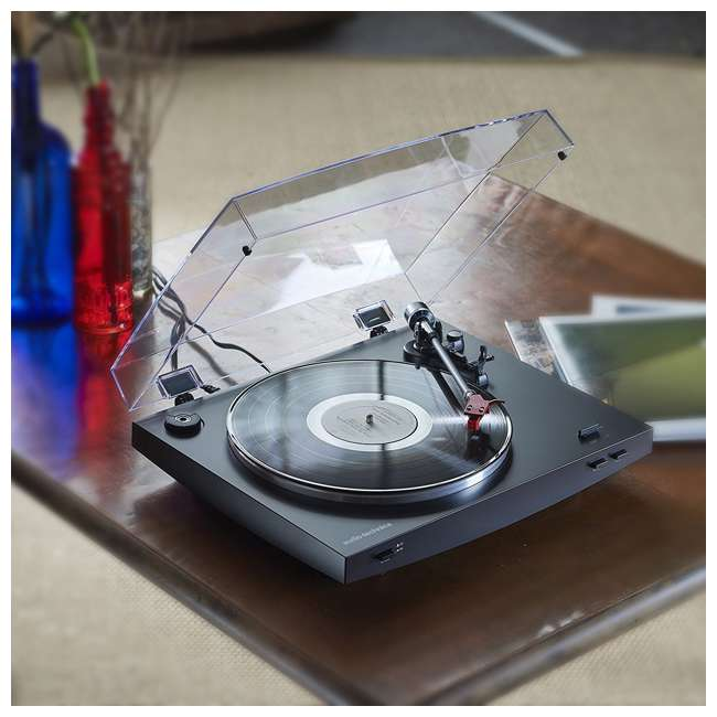 AT-LP3BK-OB Audio Technica LP3BK Automatic Belt-Drive Stereo Turntable Record Player 3