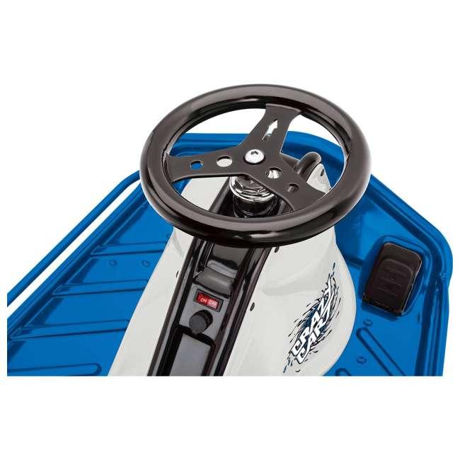 25143442 + 20143460 Razor High Torque Motorized Drifting Crazy Cart w/ Drift Bar, Blue/Red (2 Pack) 3