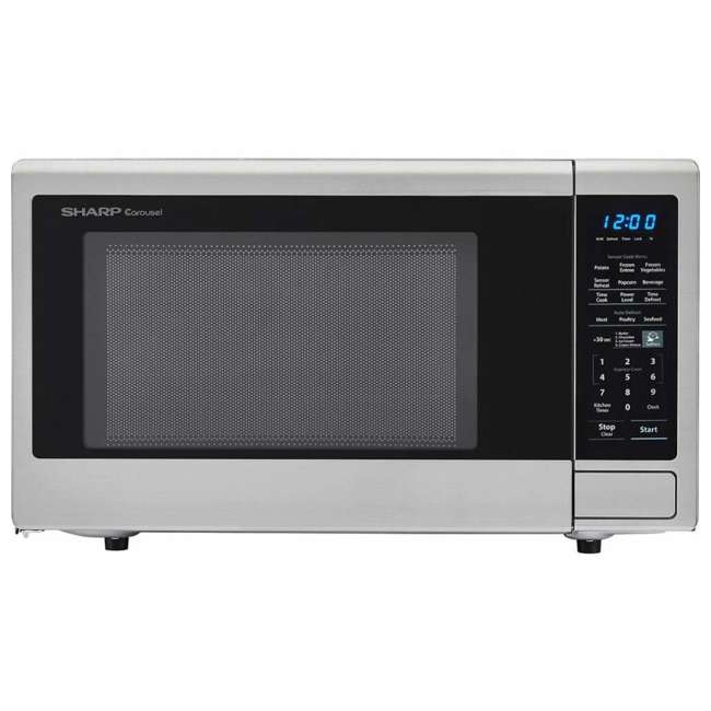 SMC1442CS-RB Sharp Carousel 1.4 Cu Ft Countertop 1000W Microwave Oven (Certified Refurbished) 3
