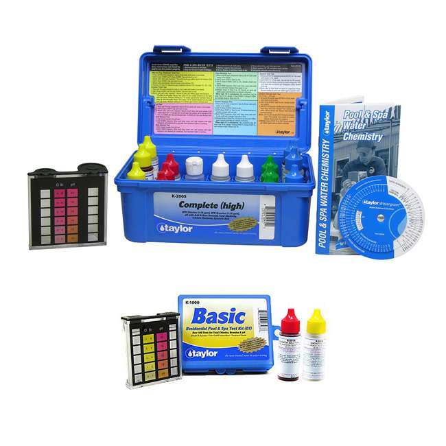 K2005 + K1000 Taylor K2005 Pool Chlorine Test Kit w/ Basic Kit