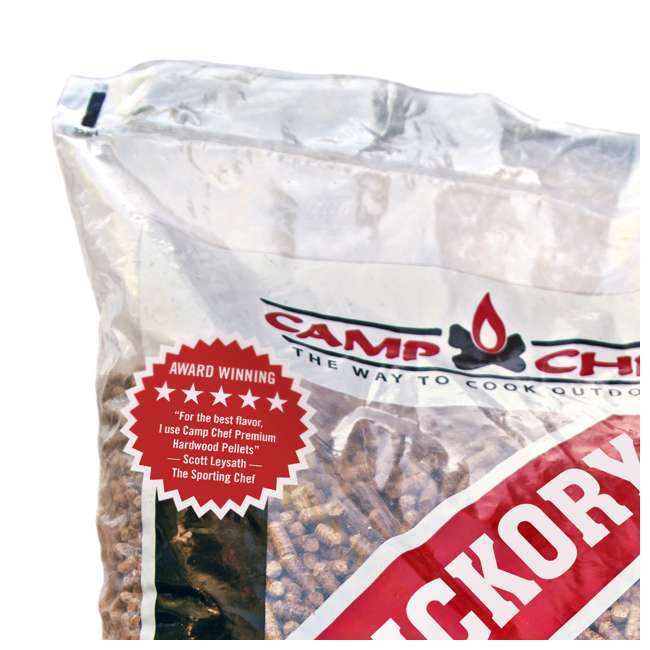 3 x CC_PLHK Camp Chef Smoker Grill Premium Hickory Hardwood Pellets, 20 Pounds (3 Pack) 5