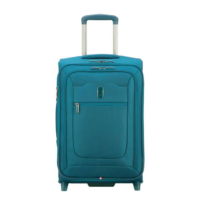 """40229172032 DELSEY Paris 2 Wheel Spinner Upright 20"""" Hyperglide Carry On Travel Case, Teal"""