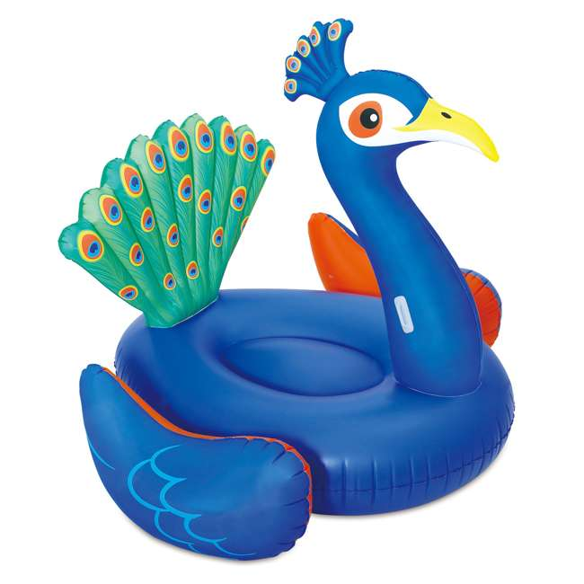 6 x K50617000167-U-A Summer Waves Giant Peacock Inflatable Pool Float Raft Lounger (Open Box)(6 Pack) 4