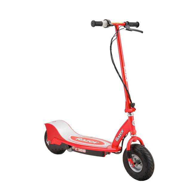 13113697 + 97778 Razor E300 Electric Red Scooter And Razor V17 Youth Helmet 1
