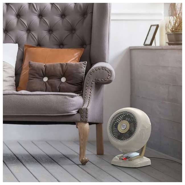 VHEAT-WHITE-OB Vornado VHeat Whole Room Vintage Space Heater, White (Open Box) 1