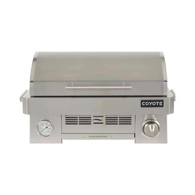 C1PORTLP Coyote Outdoor C1PORTLP Infinity Burner 200 Square Inch Portable Grill, Silver