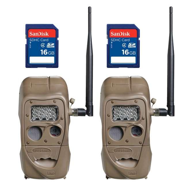 J1415-LONGRANGE + 2 x SD4-16GB-SAN Cuddeback CuddeLink 20MP Wireless IR Game Trail Camera + 16GB SD Card (2 Each)