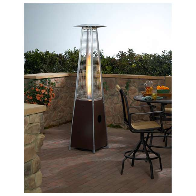 HLDS01-GTHG-U-A AZ Patio Tall Outdoor Triangle Glass Tube Liquid Propane Heater (Open Box) 1