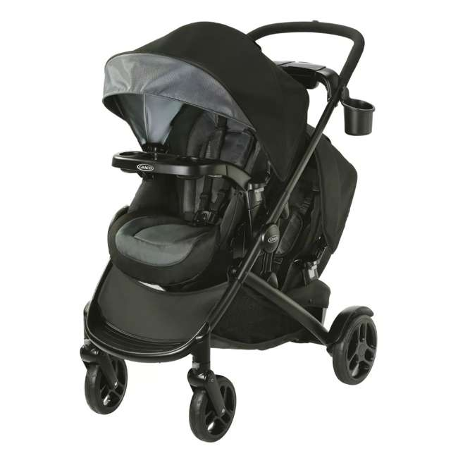 2083433 Graco Modes2Grow 4 in 1 Convertible Double Baby Toddler Stroller, Spencer Gray
