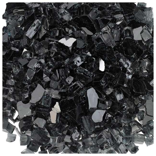 AFF-BLKRF12-10 American Fireglass 10 LB Bag 1/2 Inch Reflective Fireplace & Pit Glass, Black 2