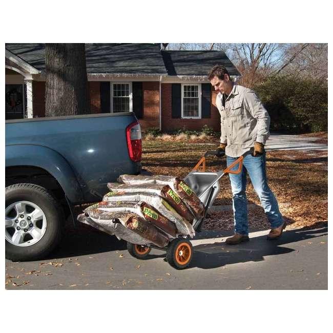 WG050-U-C Worx WG050 Aerot 8-In-1 Wheelbarrow Dolly t Garden rier - Missing Wheel 6