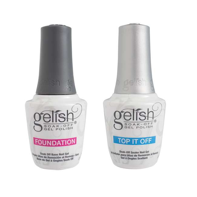 1121503-DYNAMIC + 1900116-6PPACK2 + 1900115-6PACK1 Gelish Base & Top Sealer with Mini Kung Fu Flair and Sassy Intergalactic Glam Polish 1