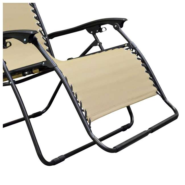 Caravan Canopy Infinity Zero Gravity Loveseat Patio Chair