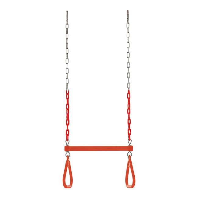 SWTSC-OR Swingan SWTSC-OR Fully Assembled Vinyl Coated Chain Trapeze Swing Bar, Orange 1