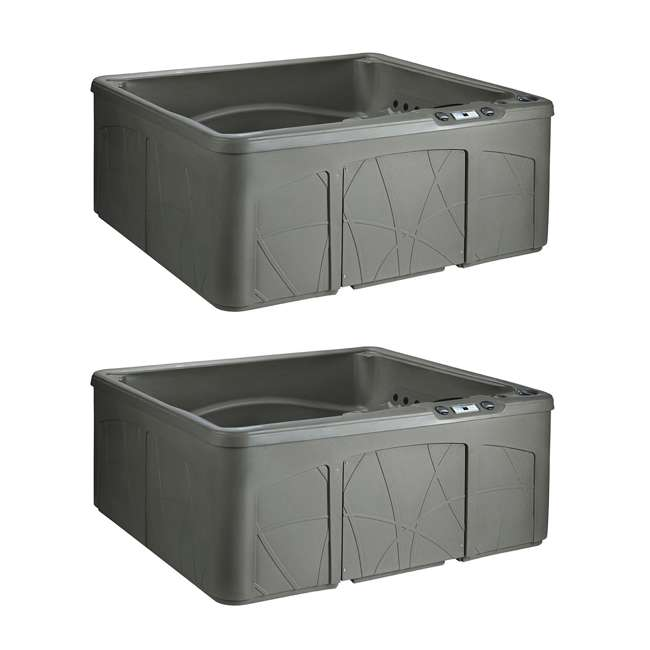 LS350DX Life Smart LS350DX 5-Person Outdoor Hot Tub Spa (2 Pack)