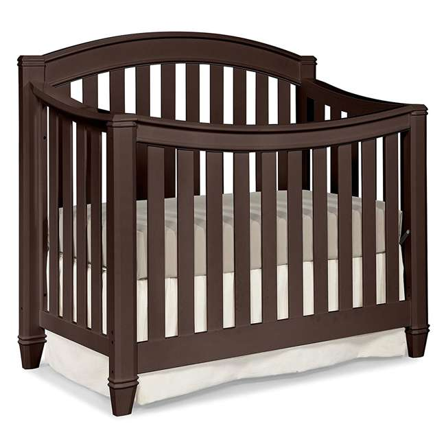 04565-309 + EM642-PHN1 Thomasville Kids Highlands Crib, Espresso & Sealy Posturepedic Mattress 1