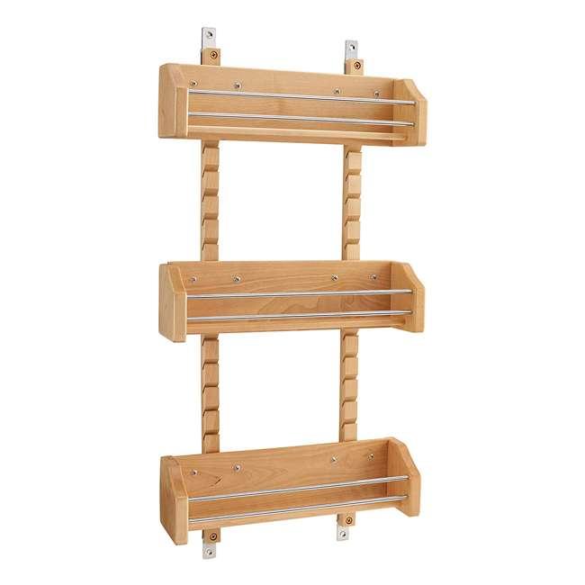 4ASR-18 Rev-A-Shelf 4ASR-18 Medium Cabinet Door Mount Wood Adjustable 3-Shelf Spice Rack