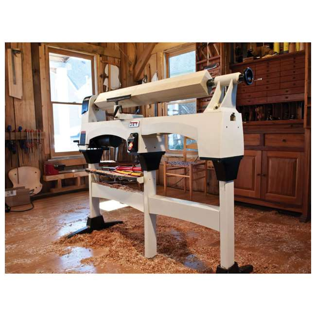 JPW-719200-U-B JET 12 x 21 Inch 3,600 RPM Variable Speed Bench Top Woodworking Lathe  |  (Used) 6