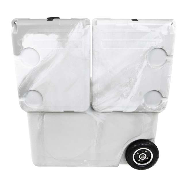 HC50-17W WYLD HC50-17W 50 Quart Dual Compartment Insulated Cooler with Wheels, White/Gray 4