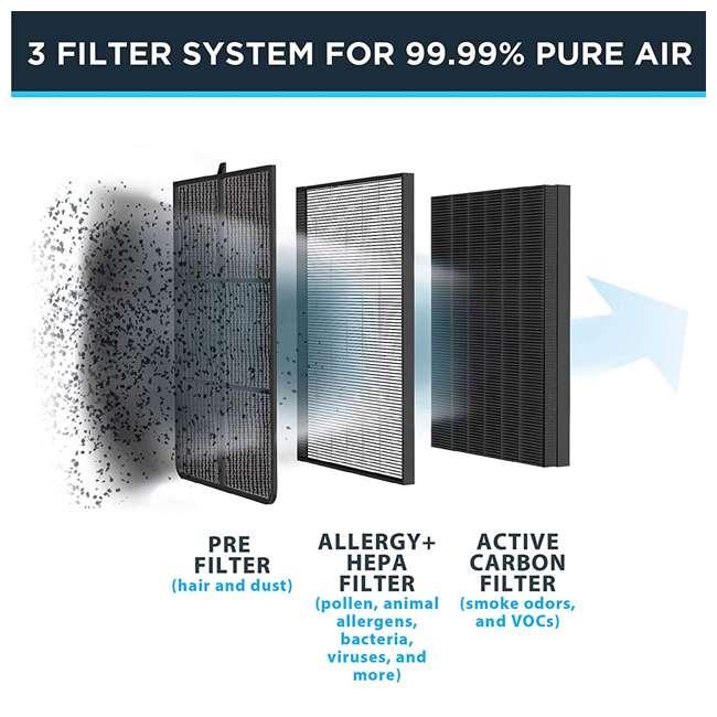 PU3030U0 Rowenta PU3030U0 Air Purifier Cleaner with Active Air Carbon Filter, White 3