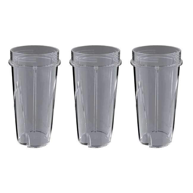 3 x 199KKU Ninja 16-Ounce Nutri Ninja Kitchen Pulse Blender Replacement Cup (3 Pack)