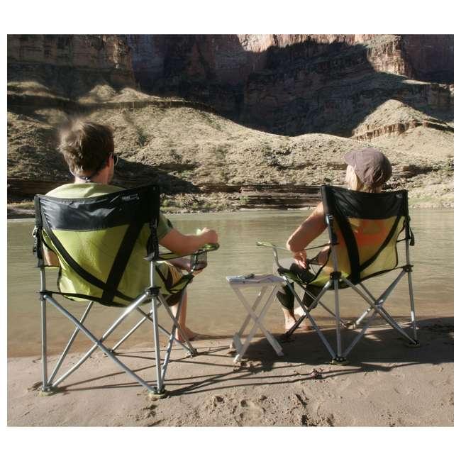 579VBK TravelChair 579V Teddy Folding Portable Camping Hunting Nylon Mesh Chair, Black 3