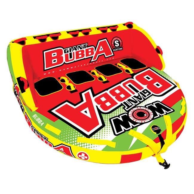 17-1070 World of Watersports Giant Bubba 4 Rider Inflatable Tube