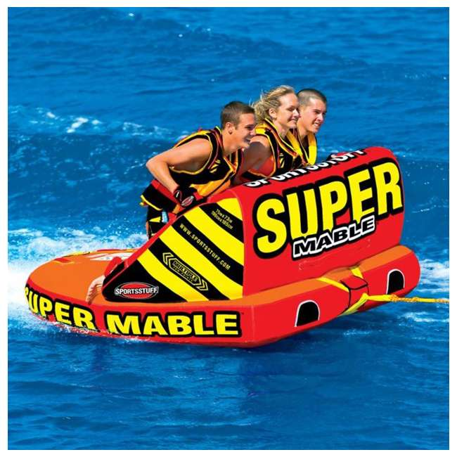 53-2223-OB Airhead SPORTSSTUFF Super Mable Triple Rider Lake Boat Towable Tube | 53-2223 3