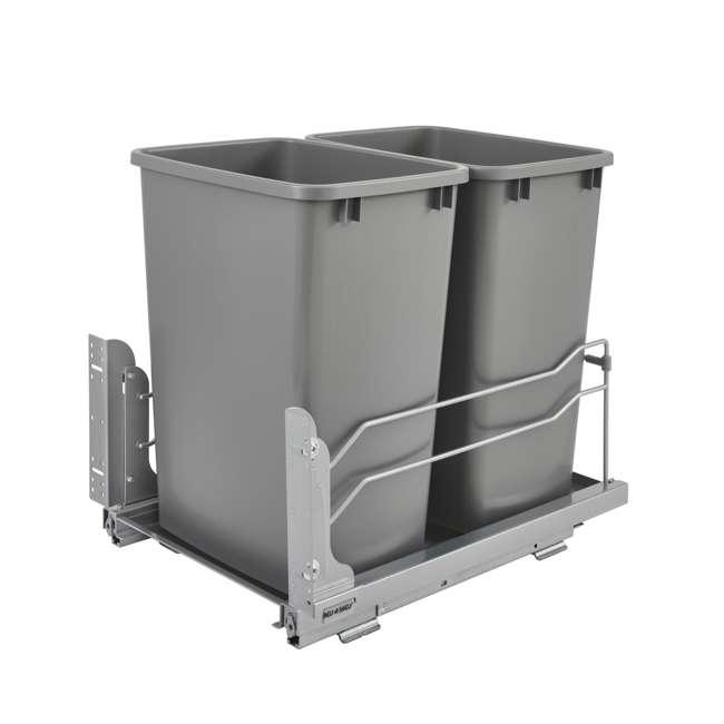 53WC-1835SCDM-217 Rev A Shelf 53WC-1835SCDM-217 Double 35 Quart Undermount Pullout Waste Container