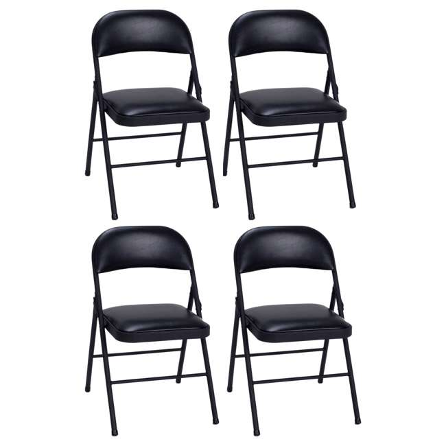 Cosco Folding Chair Black 4 Pack 14993blk4e