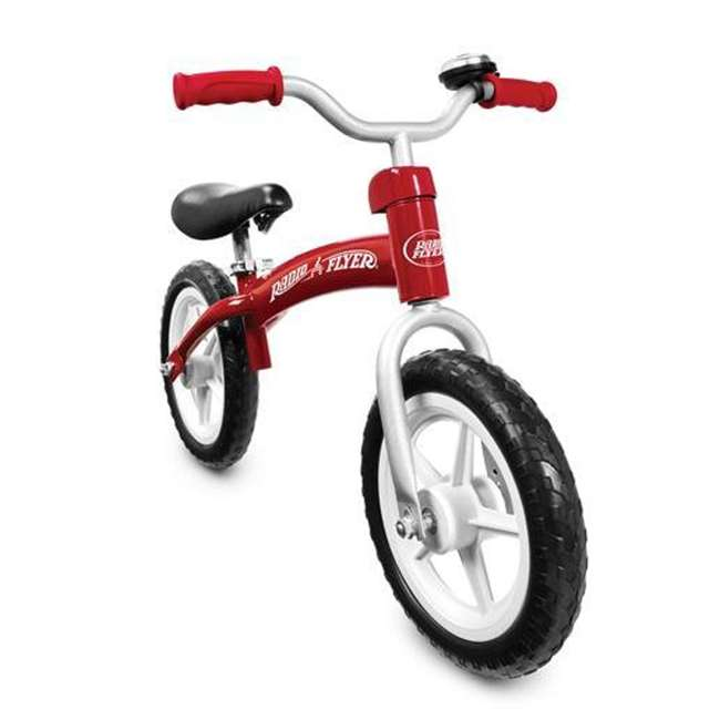 800X Radio Flyer 800X Glide and Go Age 2.5 to 5 Year Old Kids Balance Bike, Red