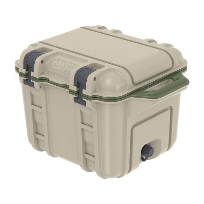 77-54865 OtterBox Venture Heavy Duty Outdoor Camping Fishing Cooler 25-Quarts, Tan/Green 2